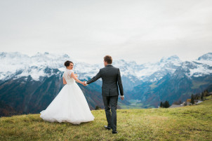 where to get married in switzerland? why not in the alp around braunwald!